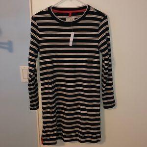 NWT LOU & GREY LONG SLEEVE STRIPE DRESS - XS